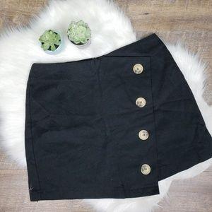Topshop horn button skirt